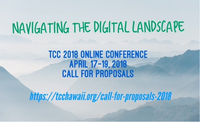 Poster announcing TCC 2018 Call for Proposals