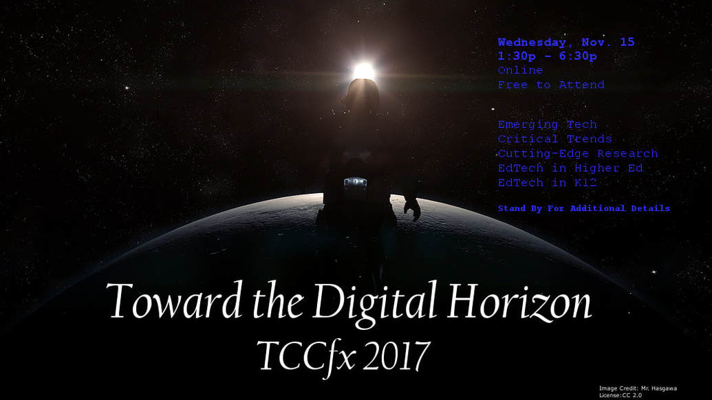 Title graphic: Toward the Digital Horizon TCCfx 2107