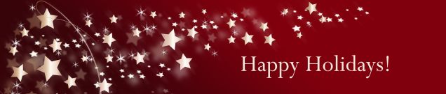 Happy Holidays Banner with Stars